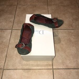 Dior Denim & Leather Flats Size 6 Great Condition